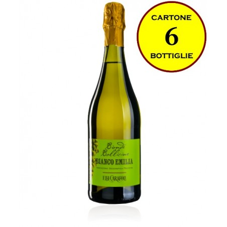 """Bianco Emilia IGP frizzante secco """"Bionde Bollicine"""" - Cantina Fratelli Carafoli (6 bottiglie)"""