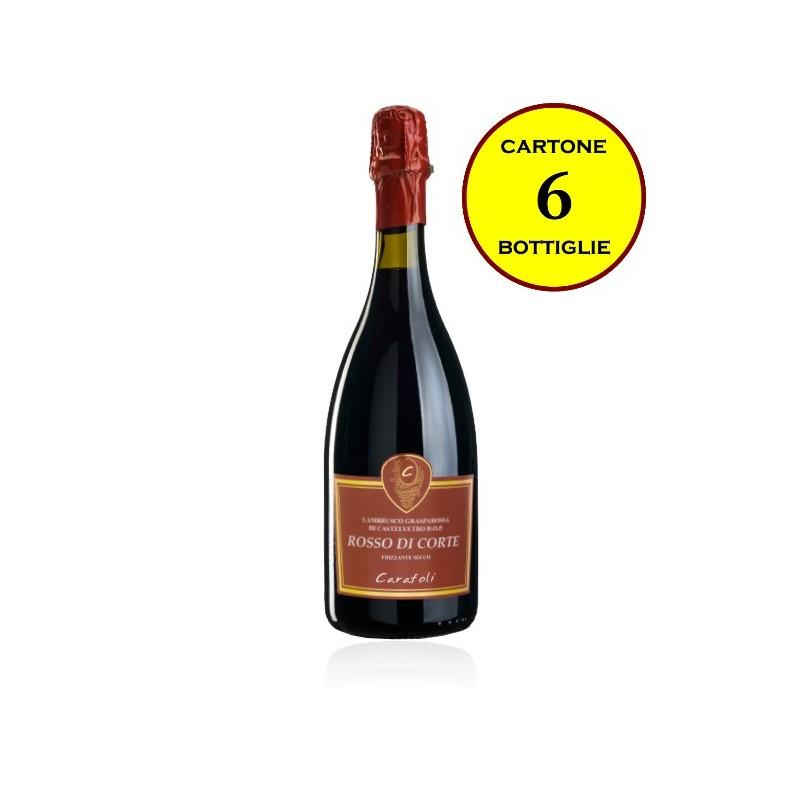 """Lambrusco Grasparossa di Castelvetro DOP frizzante secco """"Rosso di Corte"""" - Cantina Fratelli Carafoli"""