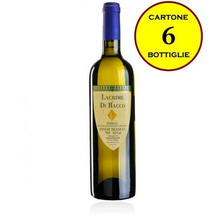 """Pinot Bianco Emilia IGP tranquillo """"Lacrime di Bacco"""" - Cantina Fratelli Carafoli (6 bottiglie)"""