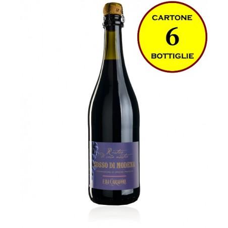 """Rosso di Modena DOP frizzante secco """"Rustico di Casa Nostra"""" - Cantina Fratelli Carafoli (6 bottiglie)"""
