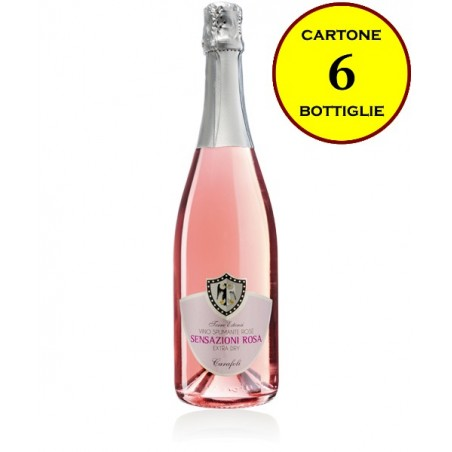 "Spumante Extra Dry Rosé Metodo Charmat ""Sensazioni Rosa"" - Cantina Fratelli Carafoli (6 bottiglie)"