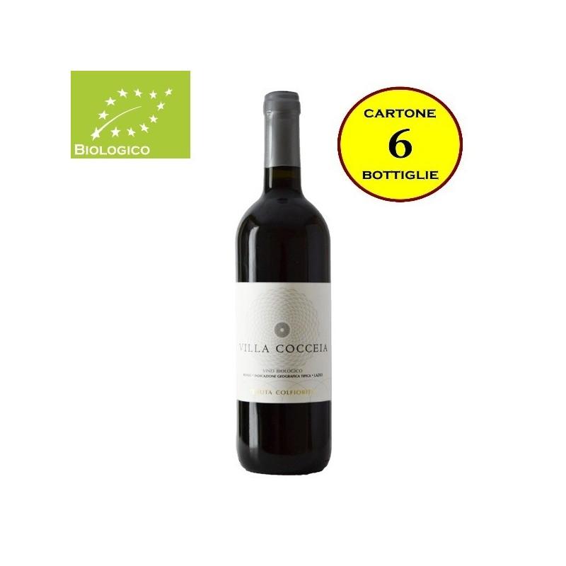 """Lazio Rosso IGT Biologico 2015 """"Villa Cocceia"""" - Tenuta Colfiorito (cartone da 6 bottiglie)"""