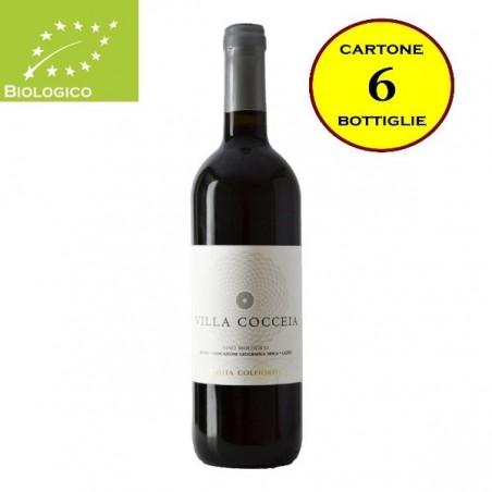"""Lazio Rosso IGT Biologico """"Villa Cocceia"""" - Tenuta Colfiorito (cartone da 6 bottiglie)"""