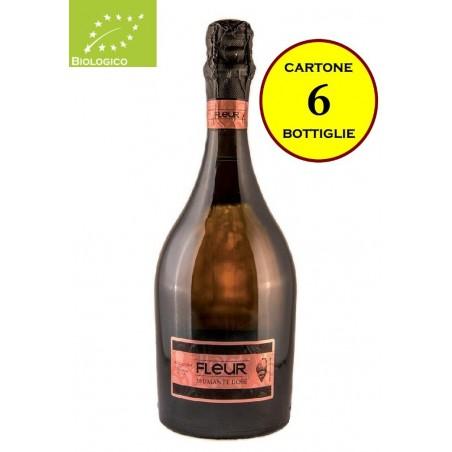 """Spumante Rosé Biologico Metodo Charmat """"Fleur"""" - Illica Vini (6 bottiglie)"""