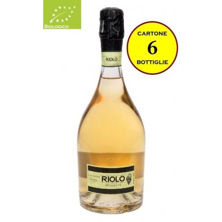 """Spumante Bianco Biologico Metodo Charmat """"Riolo"""" - Illica Vini  (6 bottiglie)"""