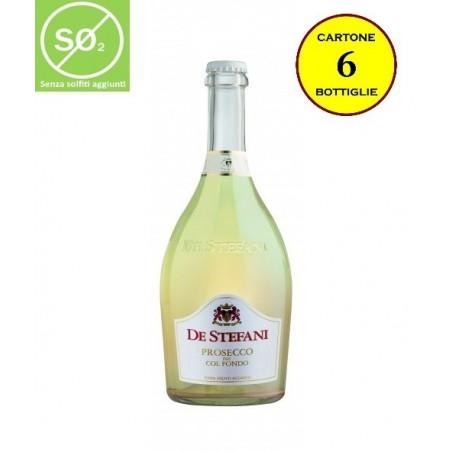 Prosecco DOC Frizzante Col Fondo (senza solfiti aggiunti) - De Stefani (cartone da 6 bottiglie)