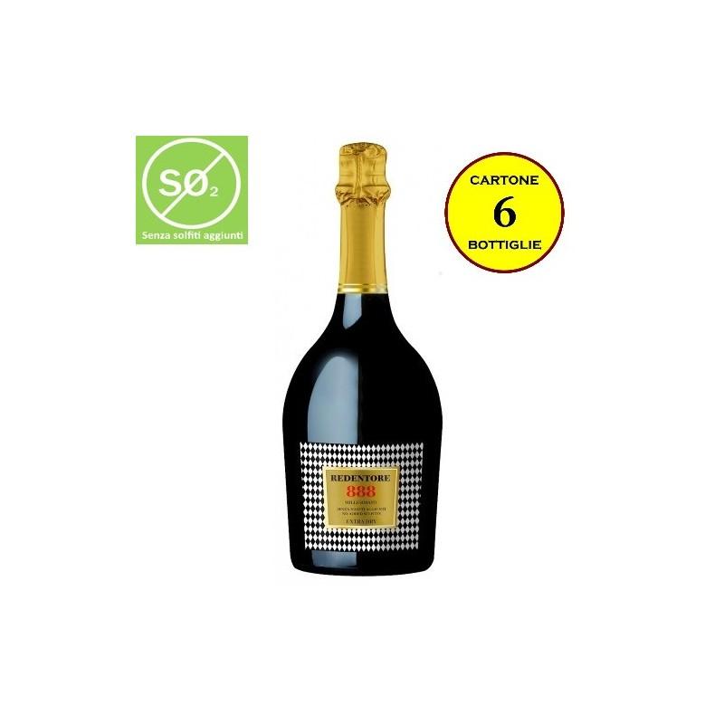 """Spumante Extra-Dry Millesimato """"888"""" Linea Redentore (senza solfiti aggiunti) - De Stefani"""