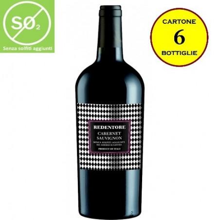 Cabernet Sauvignon TreVenezie IGT Linea Redentore (senza solfiti aggiunti) - De Stefani (cartone da 6 bottiglie)