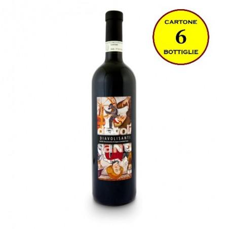 """Langhe Rosso DOC """"Diavolisanti"""" - Bricco del Cucù (cartone da 6 bottiglie)"""