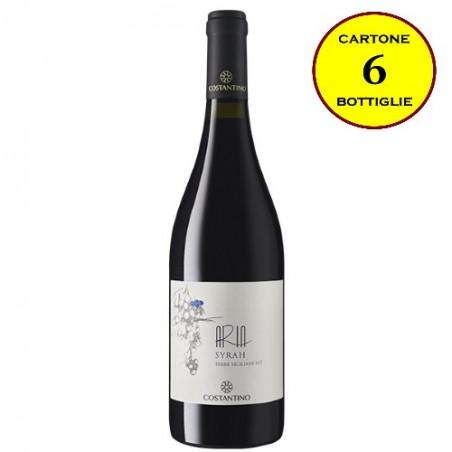 """Syrah Terre Siciliane IGT """"Aria Siciliana"""" - Costantino Wines (cartone da 6 bottiglie)"""