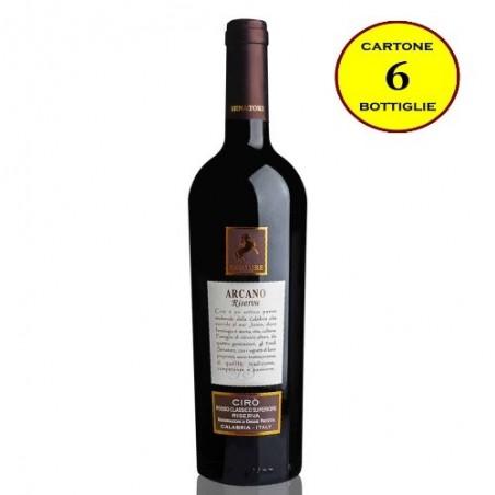 """Cirò Rosso DOP Classico Superiore Riserva """"Arcano Riserva"""" - Senatore Vini (6 bottiglie)"""