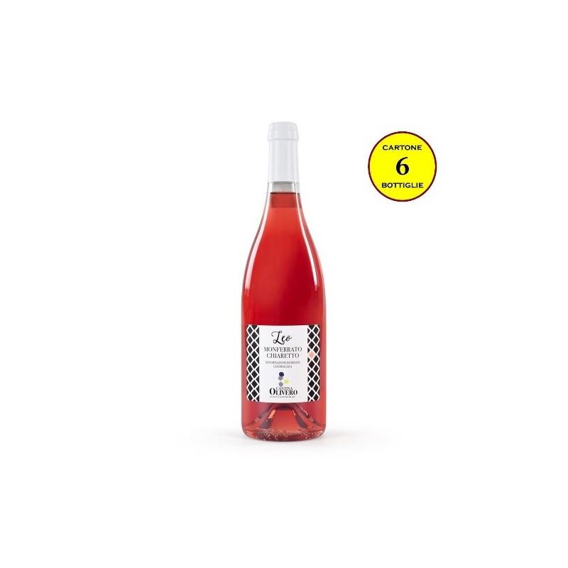 """Monferrato Chiaretto DOC """"Leo"""" - Cantina Olivero (cartone da 6 bottiglie)"""