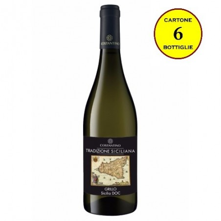 """Grillo Sicilia DOC """"Tradizione Siciliana"""" - Costantino Wines (cartone da 6 bottiglie)"""