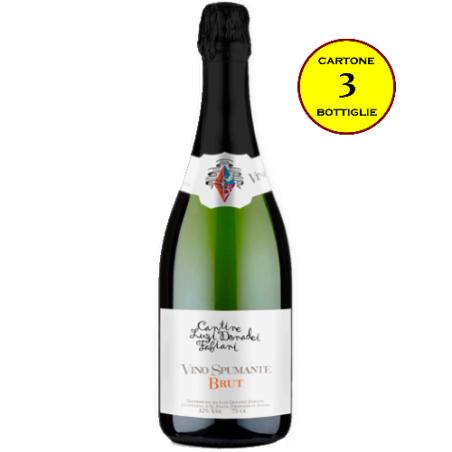 Spumante Brut Chardonnay Metodo Martinotti - Cantine Luzi Donadei Fabiani (cartone 3 bottiglie)
