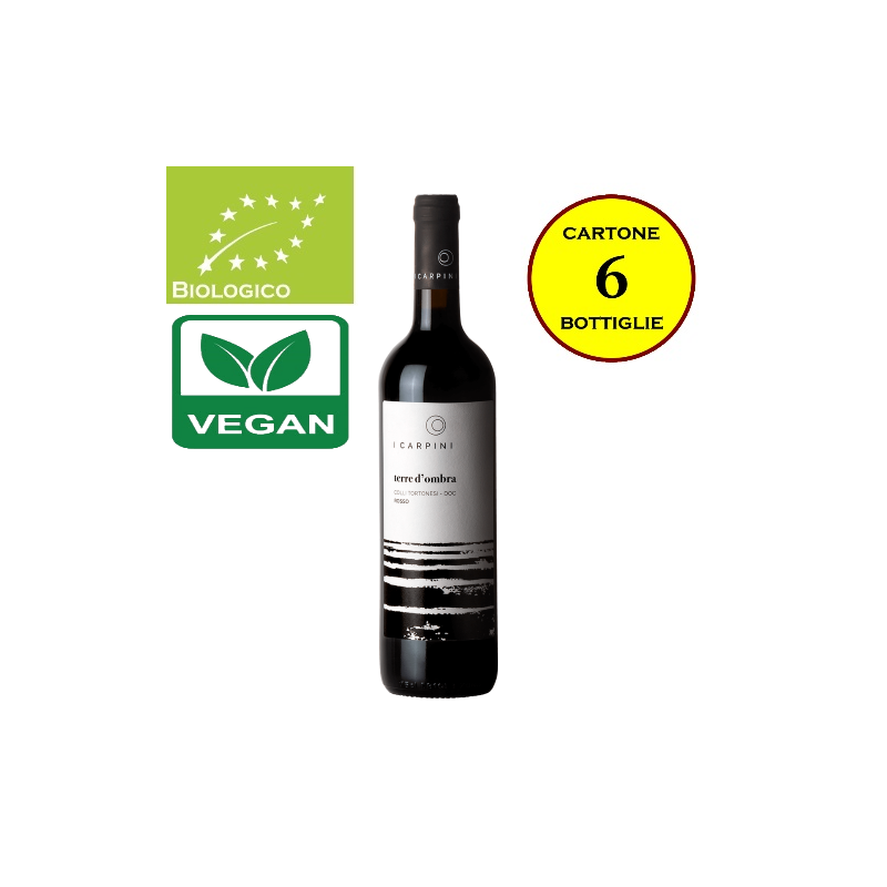"Colli Tortonesi Rosso DOC ""Terra d'Ombra"" - Cascina I Carpini (cartone da 6 bottiglie)"