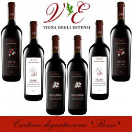 """Cartone degustazione """"Rosso"""" - Vigna degli Estensi (cartone da 6 bottiglie)"""