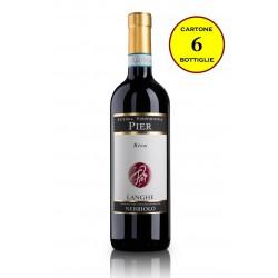 """Langhe Nebbiolo DOC 2015 """"Riva"""" - Pier Azienda Vitivinicola (6 bottiglie)"""