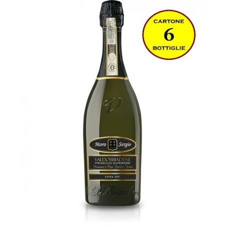 Valdobbiadene Prosecco Superiore DOCG Spumante Extra-Dry - Moro Sergio (cartone da 6 bottiglie)