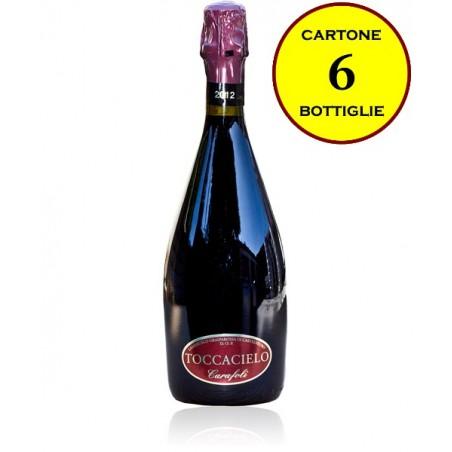 """Lambrusco Grasparossa di Castelvetro DOP frizzante secco """"Toccacielo"""" - Cantina Fratelli Carafoli (6 bottiglie)"""