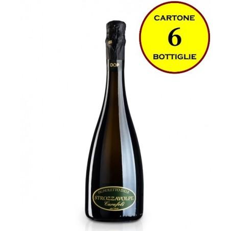 """Pignoletto DOP frizzante secco """"Strozzavolpe"""" - Cantina Fratelli Carafoli (6 bottiglie)"""