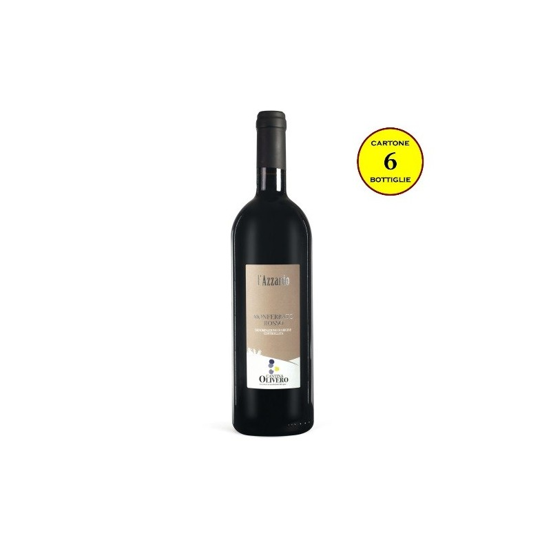 """Monferrato Rosso DOC """"L'Azzardo"""" - Cantina Olivero (cartone da 6 bottiglie)"""