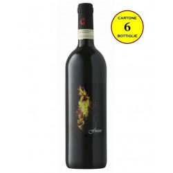 """Monferrato Rosso DOC """"Fuoco"""" - Cascina Salerio (cartone da 6 bottiglie)"""