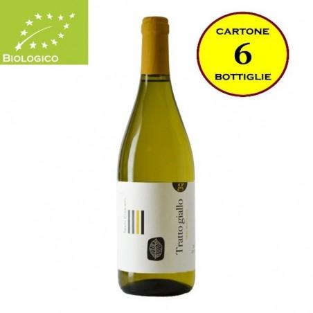 """Lazio Bianco IGT Biologico """"Tratto Giallo"""" - Tenuta Colfiorito (cartone da 6 bottiglie)"""