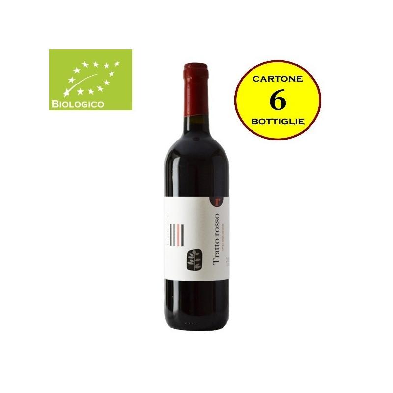 """Lazio Rosso IGT Biologico """"Tratto Rosso"""" - Tenuta Colfiorito (cartone da 6 bottiglie)"""