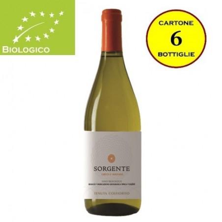 """Lazio Bianco IGT Biologico """"Sorgente"""" - Tenuta Colfiorito (cartone da 6 bottiglie)"""